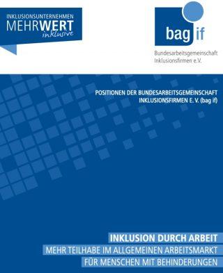 """Cover der Broschüre """"Inklusion durch Arbeit"""""""